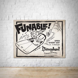 Funable Vintage Disneyland Advertisement Poster