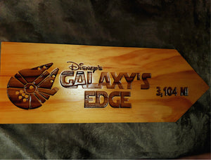 Your Miles to Galaxy's Edge Personalized Sign