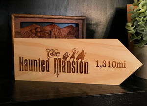 Your Miles to The Haunted Mansion Personalized Sign