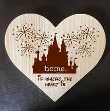 Load image into Gallery viewer, Home Is Where The Heart Is Wooden Plaque - Personalized Family Name/Est Date  - Castle Inspired