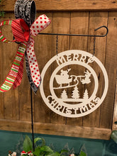 Load image into Gallery viewer, Mickey Santa - Merry Christmas Door Hanger or Garden/Yard Flag