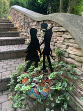"Load image into Gallery viewer, Jack & Sally Standing - Nightmare Before Christmas Inspired Decor - 15"" X 24"""