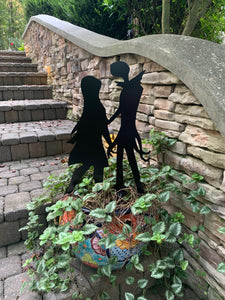 "Jack & Sally Standing - Nightmare Before Christmas Inspired Decor - 15"" X 24"""