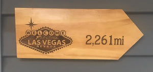 Your Miles to Las Vegas Personalized Sign