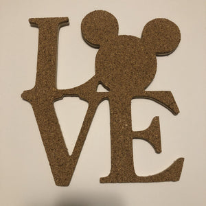 Love Mickey Mouse-Inspired Cork Pin Board