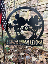 "Load image into Gallery viewer, Mickey/Minnie-Inspired Love + Established Date - 14"" Yard/Garden Flag Decor"
