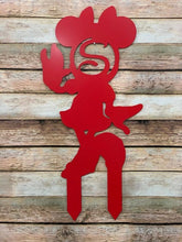 Load image into Gallery viewer, Miss Mouse- Custom-Inspired ADDRESS # or MONOGRAM Yard/Garden Sign w/ Stakes