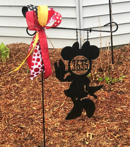 Miss Mouse - Custom-Inspired ADDRESS # Yard/Garden Flag