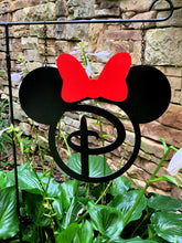 "Load image into Gallery viewer, Miss Mouse + Bow - Custom-Inspired Initial MONOGRAM - 14"" Yard/Garden Decor"