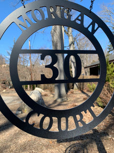 "Address Circle Decor - Yard/Garden Sign  - 12"" or 14"""