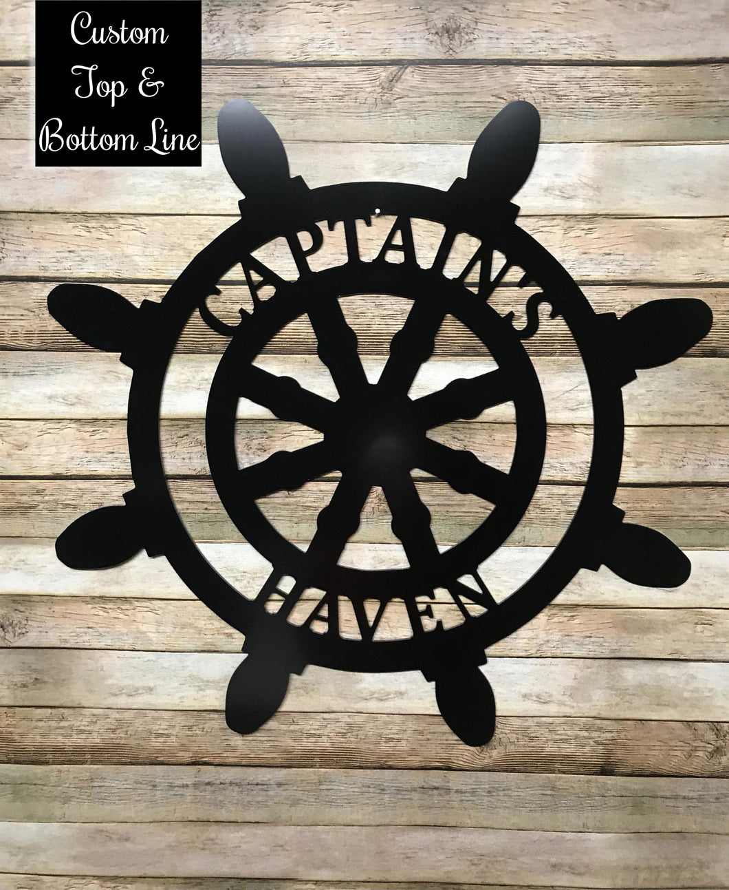 Nautical Decor - Sailboat Wheel - Customized Beach House Decor - 24
