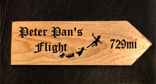 Load image into Gallery viewer, Your Miles to Peter Pan's Flight Personalized Sign