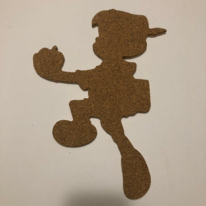 Pinocchio-Inspired Cork Pin Board