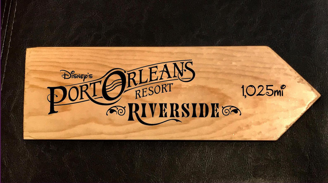 Your Miles to Disney's Port Orleans Riverside Personalized Sign