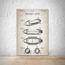 Load image into Gallery viewer, Rocket Jets Patent Vintage Wall Print Art