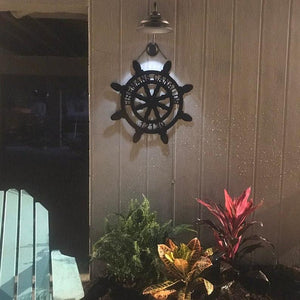 "Nautical Decor - Sailboat Wheel - Customized Beach House Decor - 24"" or 18"""