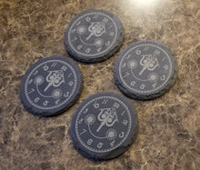 Load image into Gallery viewer, It's a Small World Engraved Clock Face Inspired - Engraved Slate Drink Coaster Set of 4