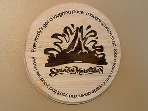 Splash Mountain Commemorative Plaque