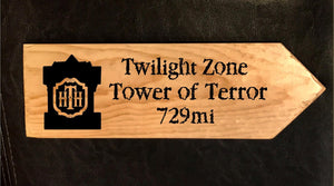 Your Miles to Tower of Terror Personalized Sign