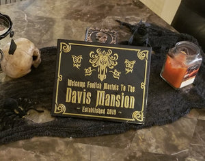 Personalized Haunted Mansion Inspired Home Welcome Sign