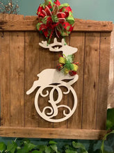 Load image into Gallery viewer, Christmas Reindeer Monogram/Name Decor - 24""