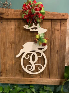 Christmas Reindeer Monogram/Name Decor - 24""