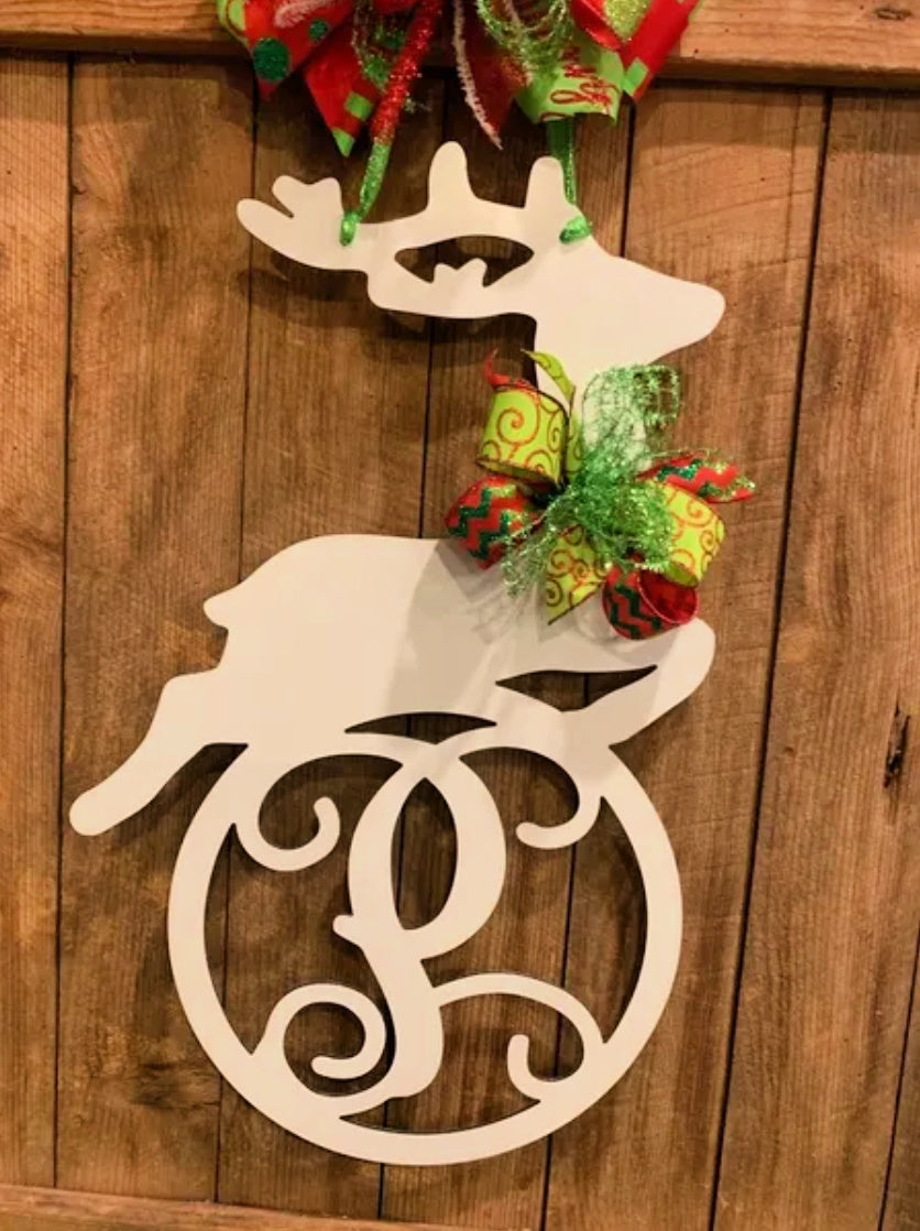 Christmas Reindeer Monogram/Name Decor - 24
