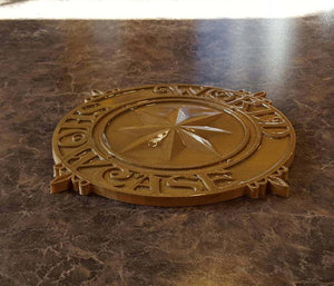 World Showcase Medallion - EPCOT Inspired Sign / Plaque Prop Replica