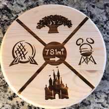 Load image into Gallery viewer, Your Mileage to WDW Plaque