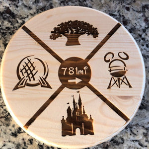 Your Mileage to WDW Plaque