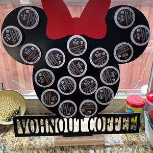 Customized Color Bow Keurig K-Cup Coffee Holder - w/ Wording Personalization