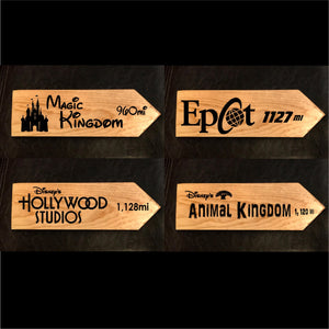 Your Miles to The Magic - Four Personalized Park Signs