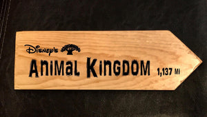 Your Miles to Animal Kingdom Personalized Sign