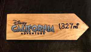 Your Miles to California Adventure Personalized Sign