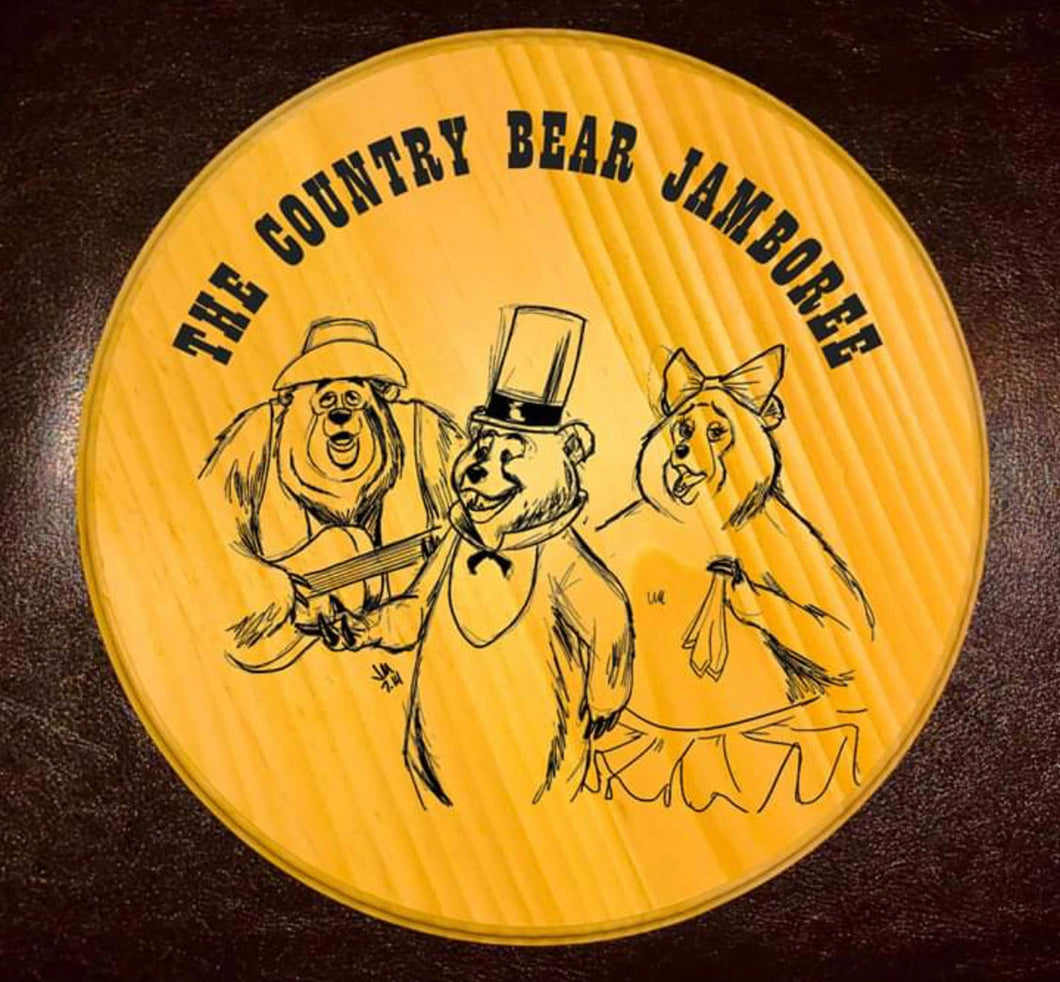 Country Bear Jamboree Plaque
