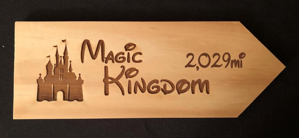 Your Miles to The Magic Kingdom Personalized Sign
