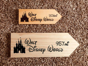 Your Miles to Epcot Personalized Sign