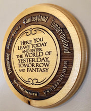 Load image into Gallery viewer, Magic Kingdom (WDW) Wooden Welcome - Lands Around The Kingdom Plaque