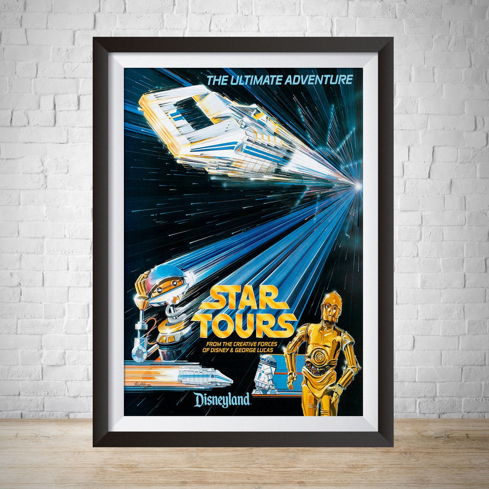 Star Tours Attraction Poster - Vintage Disneyland