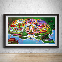 Load image into Gallery viewer, Vintage Magic Kingdom Concept Map