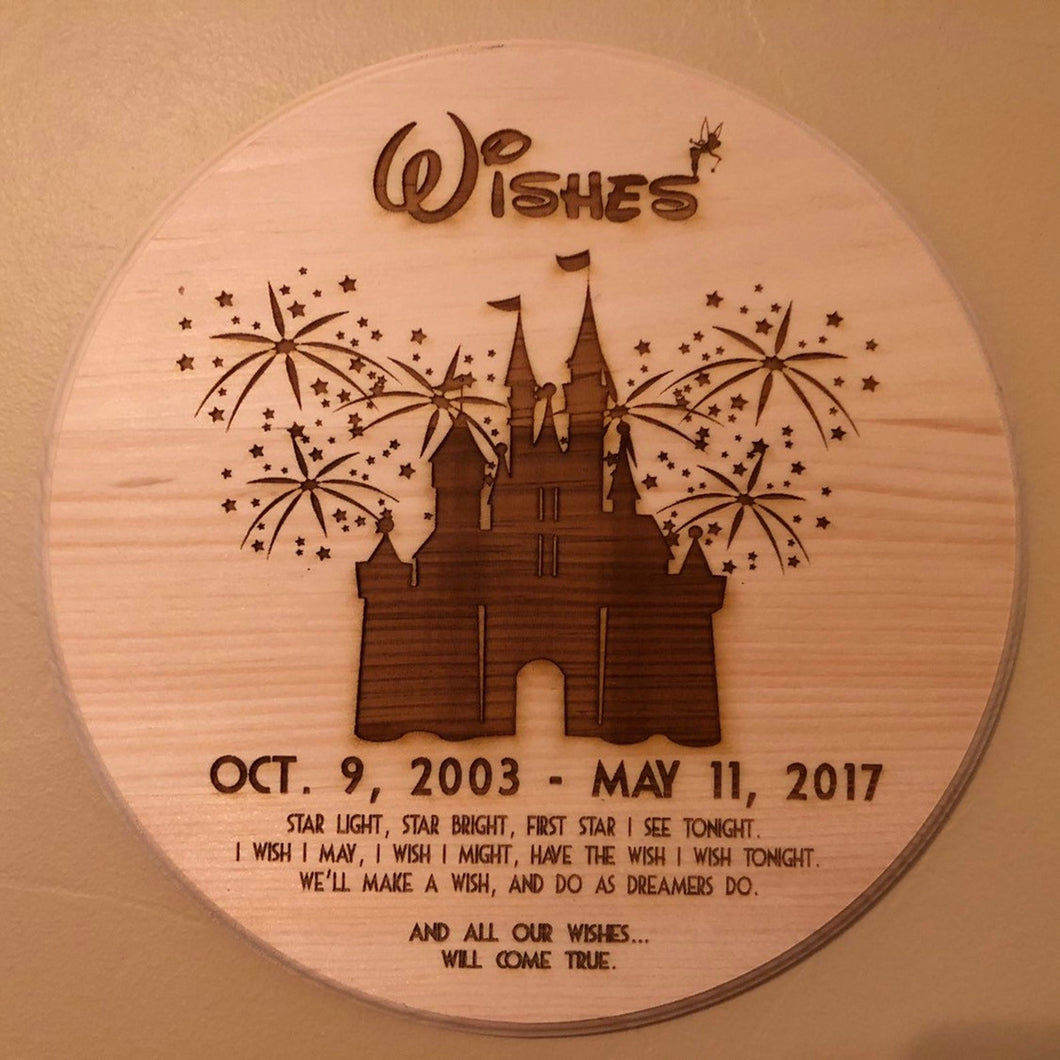 Wishes Commemorative Plaque