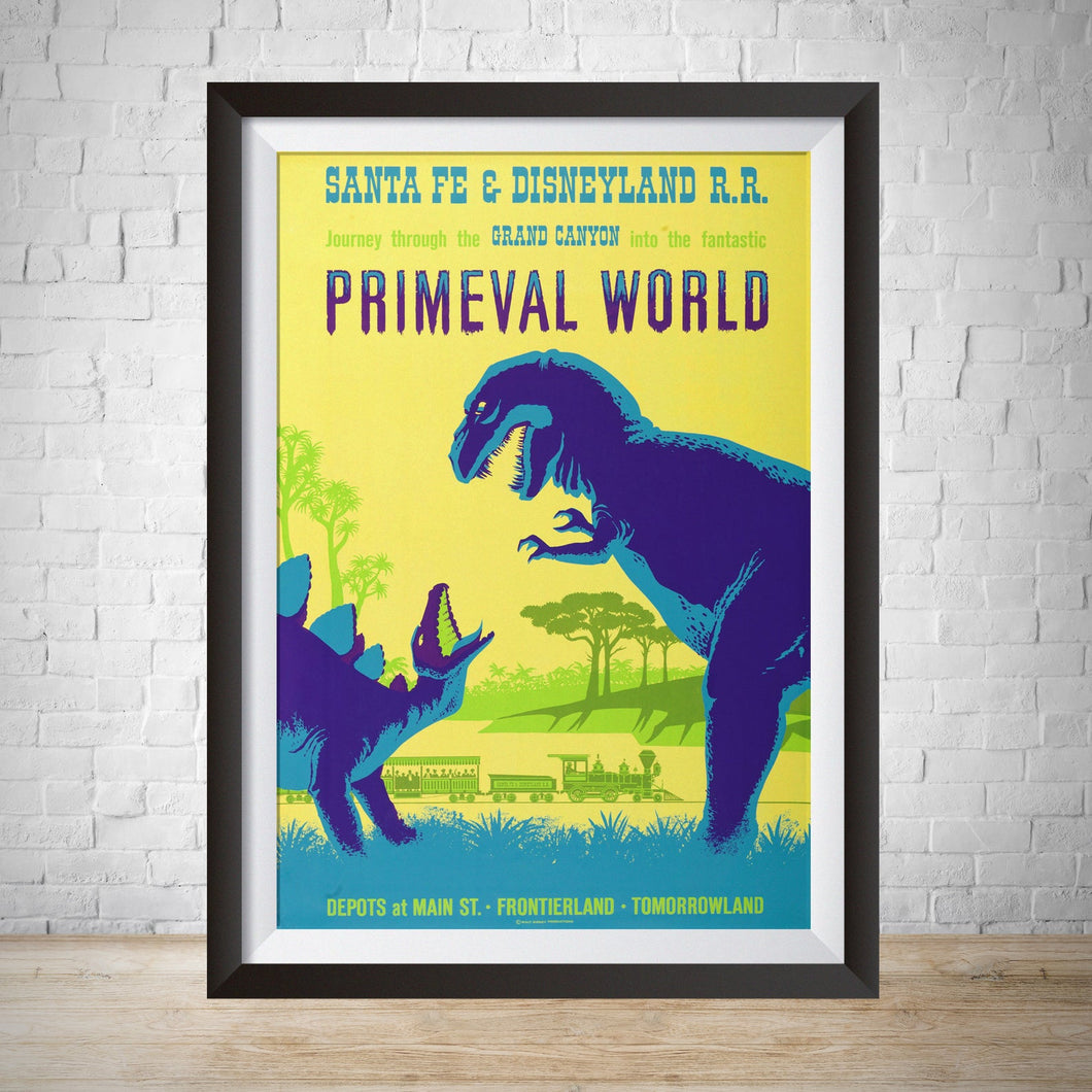 Primeval World Vintage Disneyland Attraction Poster