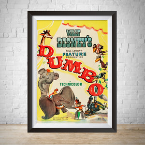 1941 Dumbo Vintage Movie Poster