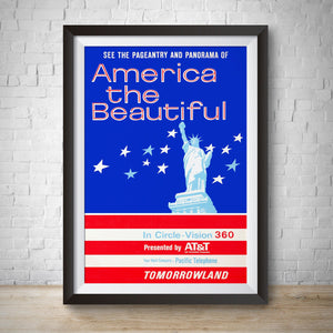 America the Beautiful - Vintage Tomorrowland Attraction Poster