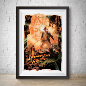 Indiana Jones Adventure - Disneyland Vintage Attraction Poster