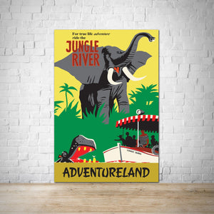 Jungle River Cruise - Adventureland Vintage Attraction Poster Print