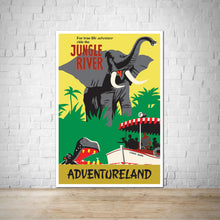Load image into Gallery viewer, Jungle River Cruise - Adventureland Vintage Attraction Poster Print