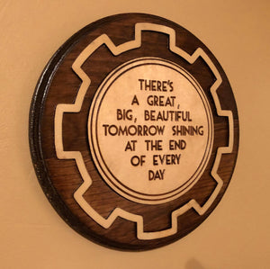 Great Big Beautiful Tomorrow - Premium Wooden Plaque
