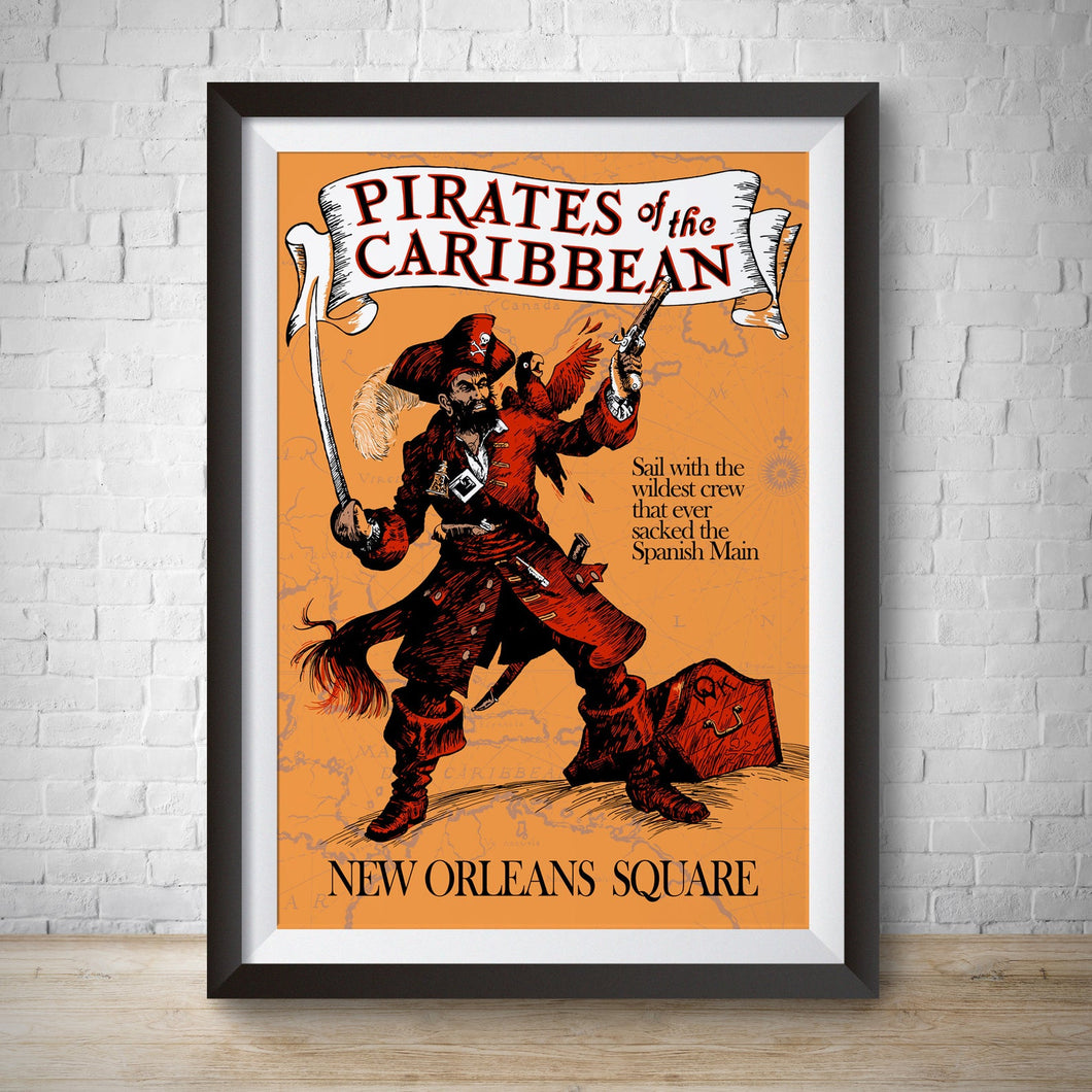 Pirates of the Caribbean - New Orleans Square - Vintage Poster