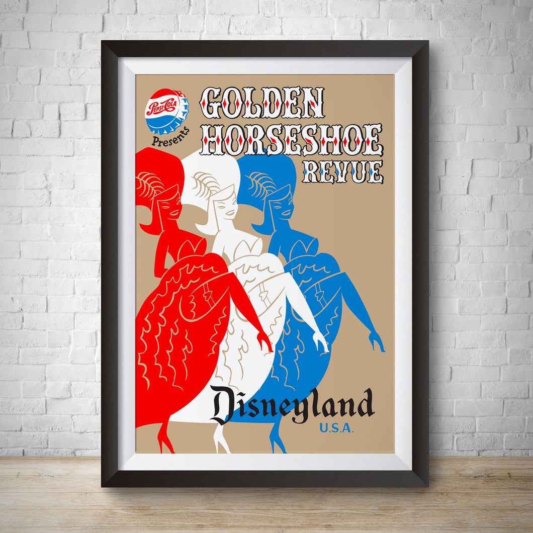 Golden Horseshoe Revue - Vintage Disneyland Attraction Poster